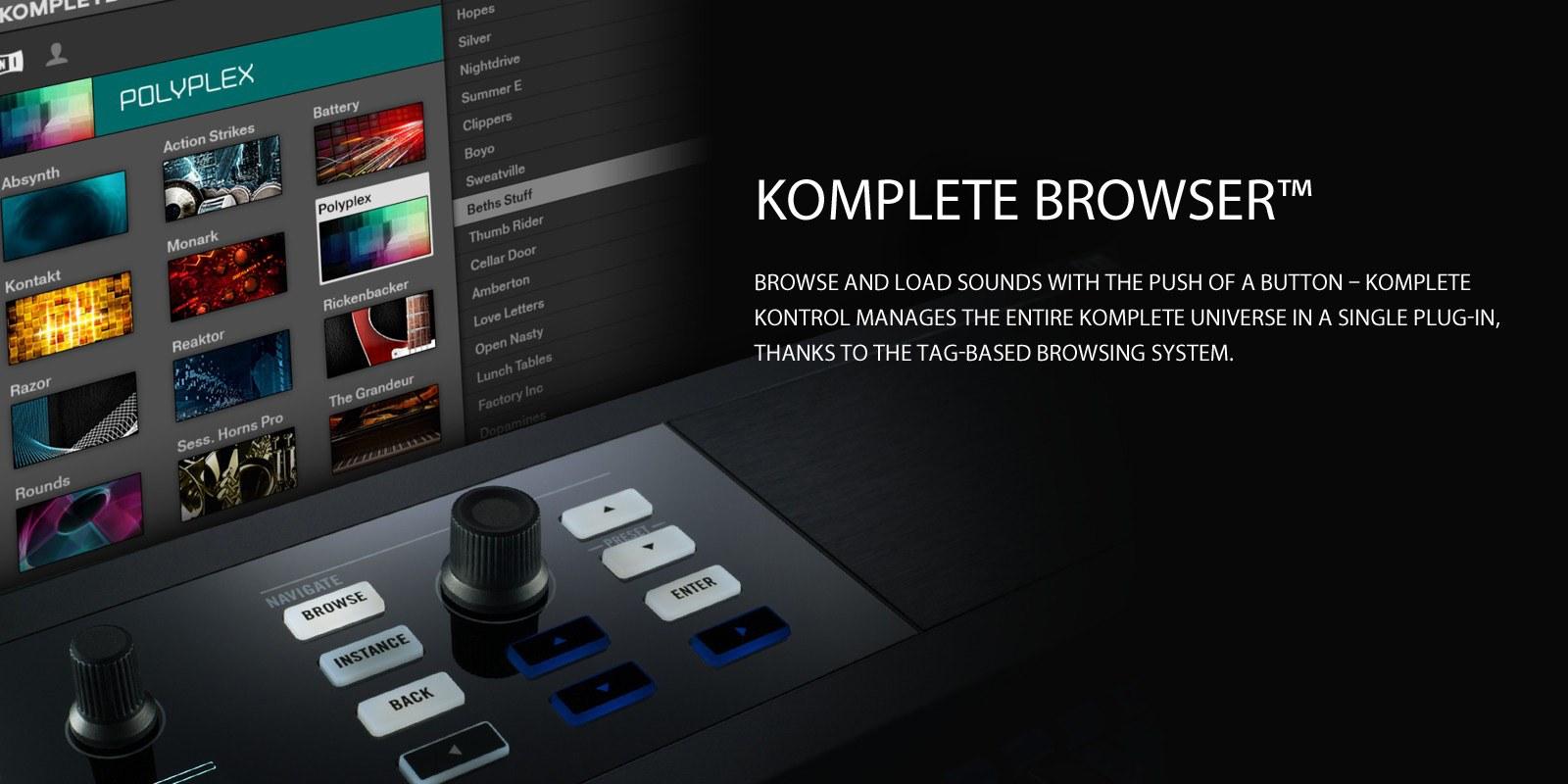 komplete kontrol - browser
